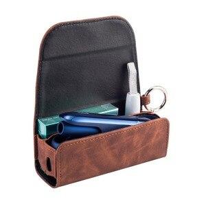 Image 4 - Mode Flip Doppel Buch Abdeckung für 3,0 Fall Tasche Tasche Halter Abdeckung Brieftasche Leder Fall für iqos 3
