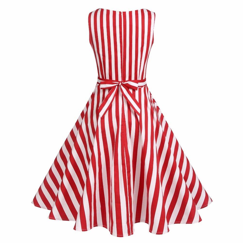 ACEVOG Vintage Swing Kleid Frauen 1950er 60er Jahre Retro Garden - Damenbekleidung - Foto 5
