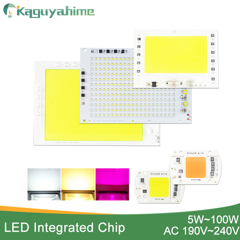 Kaguyahime LED COB Chip 220V 20W 30W 50W 100W DIY Integrated Chip Rectangular Lamp No Need Driver For Spotlight Floodlight Bulb