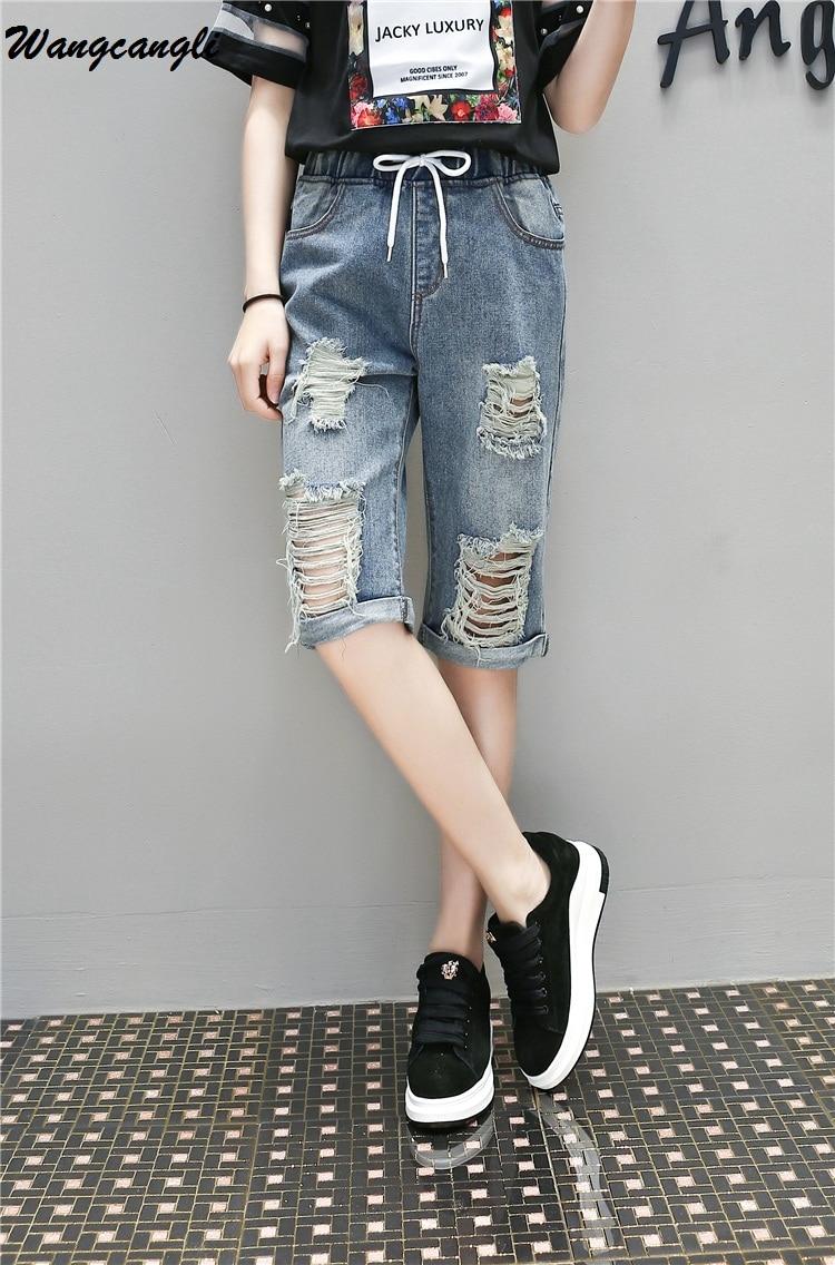 aliexpress : buy wangcangli knee length jeans for women with