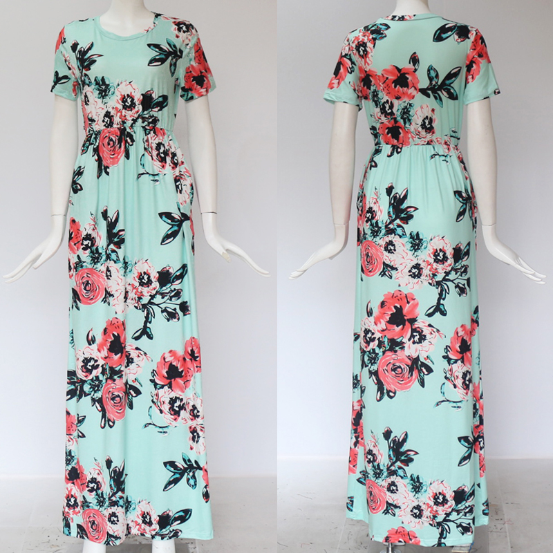 19 Summer Long Dress Floral Print Boho Beach Dress Tunic Maxi Dress Women Evening Party Dress Sundress Vestidos de festa XXXL 29