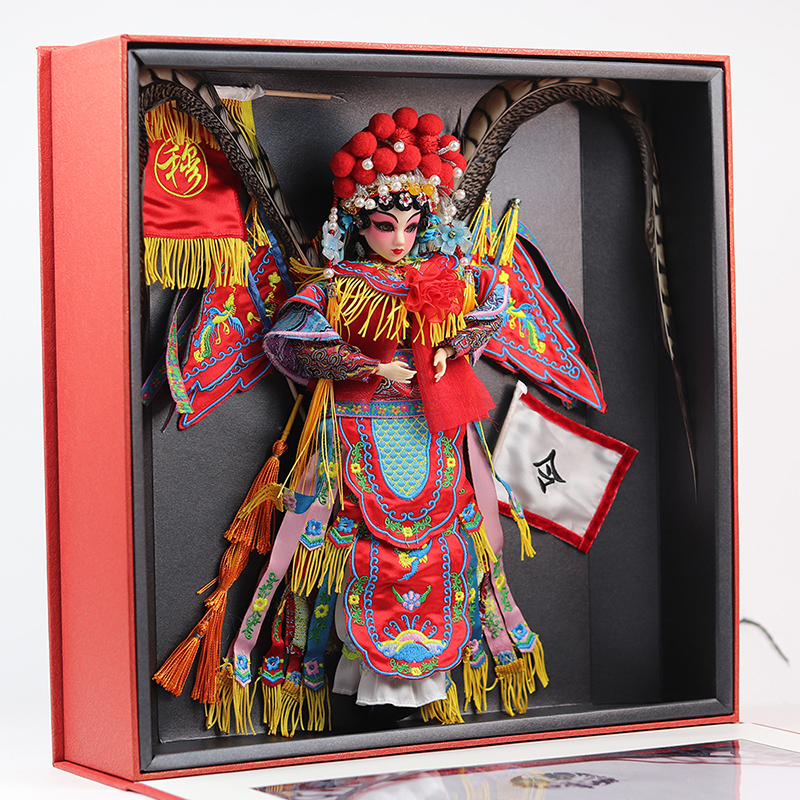 High-end Collectible Chinese Dolls Traditional Oriental Peking Opera Doll With 14 Joints Movable Mu GuiYing Series Toys Gifts image