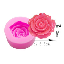 3D Rose Flower Soap Making Tool handmade Silica Gel soap Mold diy Handmade Chocolate Cake Silicone