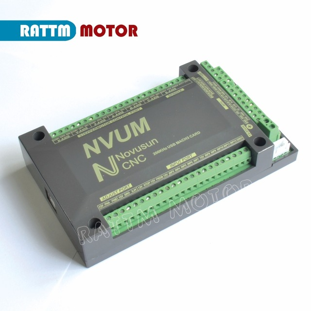 EU 4-Axis NVUM CNC Controller 200KHZ MACH3 USB Motion Control Card for CNC Engraving Stepper Motor Servo motor from RATTM MOTOR