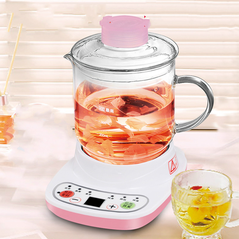 Electric kettle Health cup mini-health pot full  glass electric hot office brew Overheat Protection кремы health
