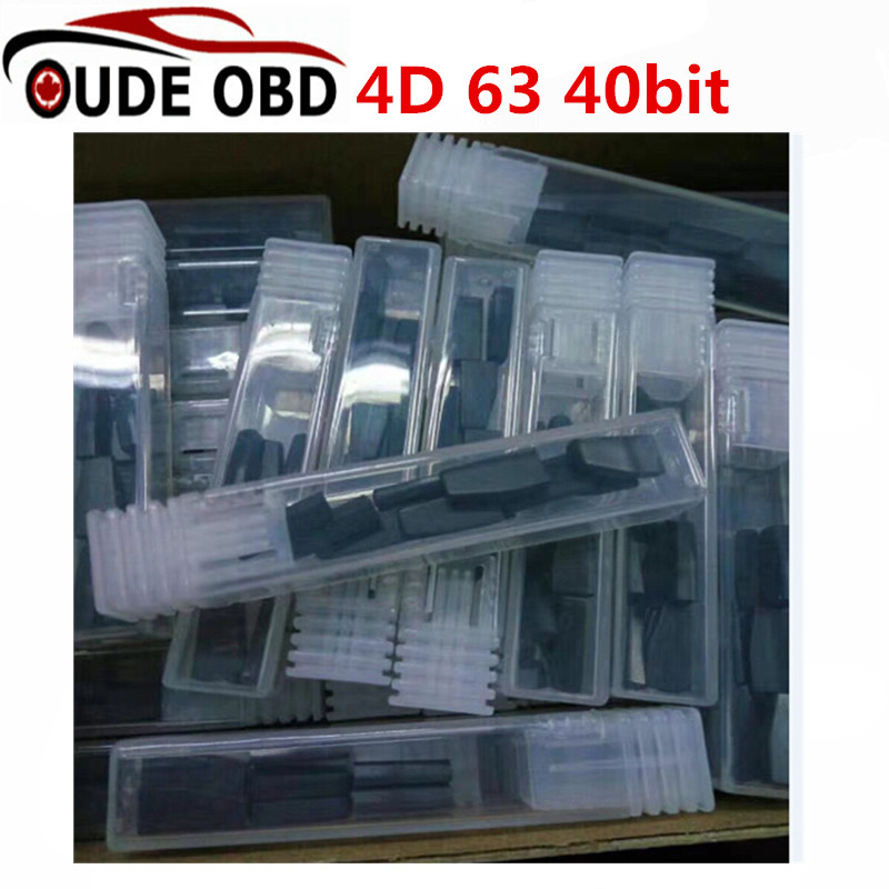 imágenes para 20 unids/lote Id83 (4d63 $ number bits) Oem de la Alta Calidad Del Coche Auto Transpondedor Clave de Chips 4d 63 40 Bit