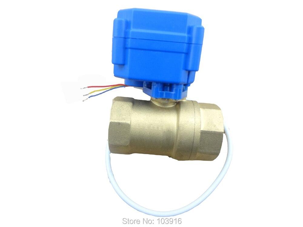 Free shipping motorized ball valve brass, G3/4