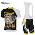 Widewins dcnt funk my brain  веломайка  короткий Джерси  Ropa De Ciclismo Maillot  комплект одежды для велоспорта  велосипедная одежда  гелевая подкладка 5475