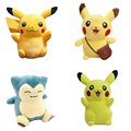 4 Styles 2016 New Pikachu Plush 15-22CM Snorlax Plush Toy Cute Pikachu Soft Toy For Children Chirstmas gift Collection