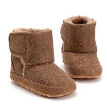 6fc746416ecc6 Bébé Fille Hiver bottes de neige Bébé Fille Garçon PU En Cuir Bottes  chaussures décontractées Walkersborn