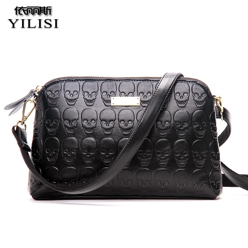 YILISI 2017 Women Messenger Bags Vintage Lady Small Crossbody  Shoulder Bag Female Skull Shell Bags Famous Brand women shell shoulder bag female crossbody women messenger bags fashion small bag females lady handbags crossbody bags for women