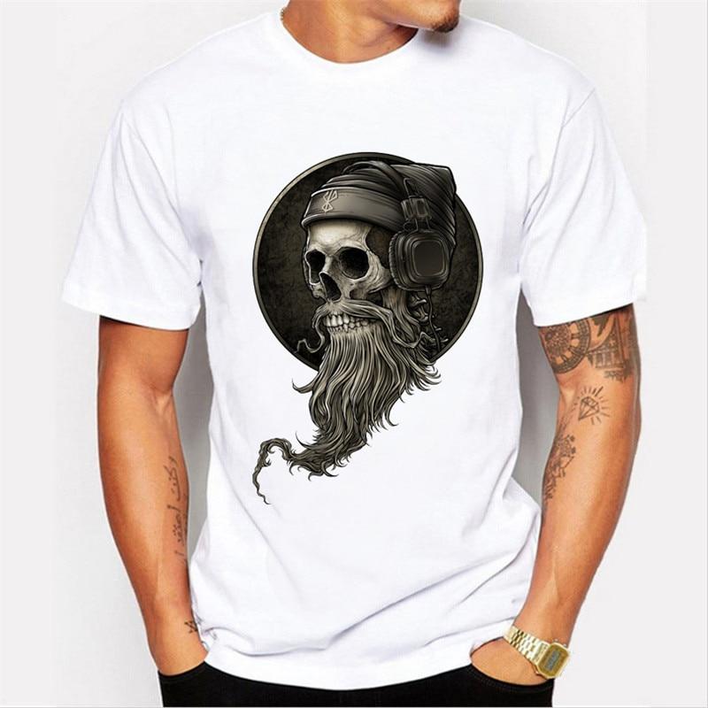 Hot Sell Brand Fashion Men 39 S Galaxy Sailor Skull Print T