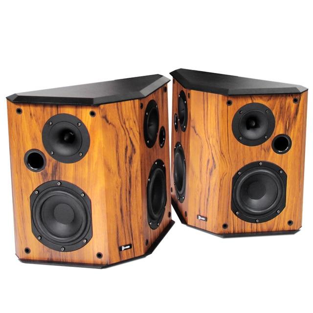 2018 NEW 20 Wood Bookshelf Speakers HIFI Dipole Surround Speaker Horn Home Living Room Hifi