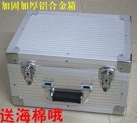 Caja de Herramientas de aluminio de alta calidad maleta Caja de Herramientas caja de archivos resistente a impactos caja de seguridad equipo de cámara con precorte de espuma