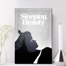 Sleeping Beauty Classic Animation Poster Painting On Canvas Bedroom Black White Wall Art Decoration Pictures Modern Home Decor
