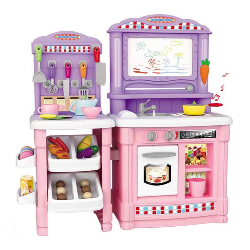 Multifunctional 70PCS Children s Kitchen Toys Pretending Simulated Cooking Food Plastic Toys Cake Vegetable Cut Set