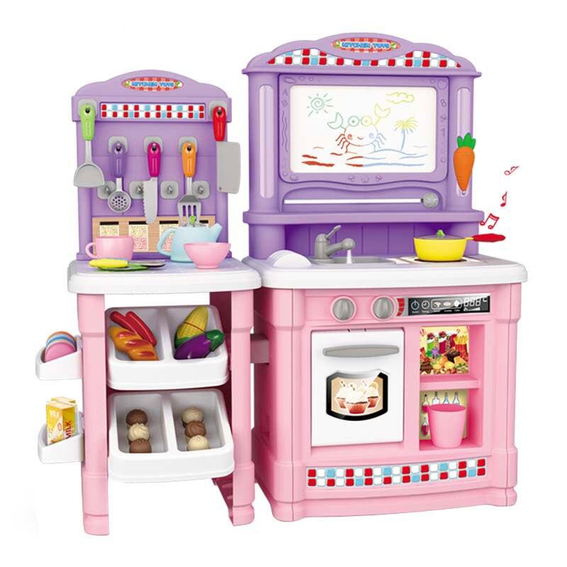 Multifunktionale 70 stücke kinder Küche Spielzeug Vorgab, Simulierte Kochen Lebensmittel Kunststoff Spielzeug Kuchen Gemüse Cut Set Geschenk-in Küchenspielzeug aus Spielzeug und Hobbys bei  Gruppe 1
