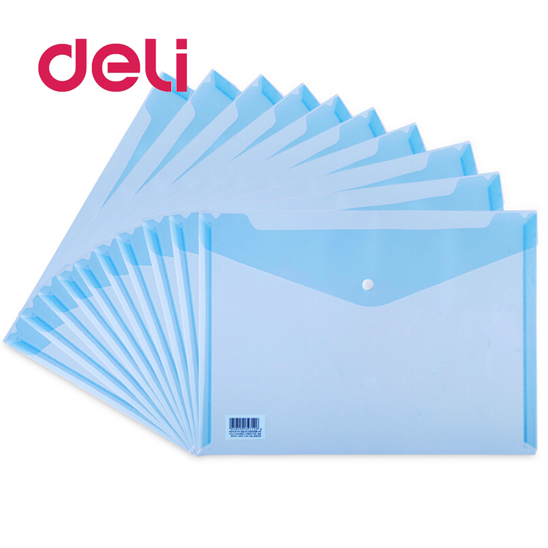 Document Bags Clear Stationery School Office Case Plastic A4 Paper File Folder