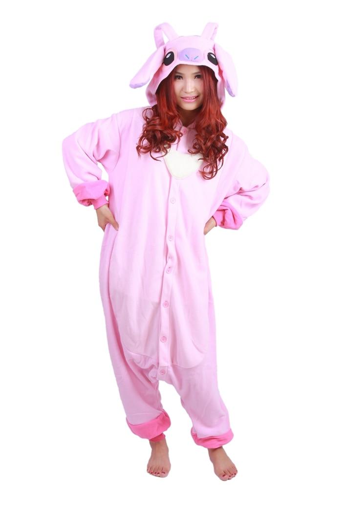 Unisex Fleece Adult Angel Onesies Animal Cosplay Costume Halloween Xmas Pajama