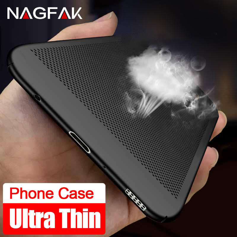 NAGFAK Heat Dissipation Case For Samsung Galaxy S9 S8 Plus S6 S7 Edge Note 8 Cover Cases For Samsung A7 A5 A3 2016 Phone Shell