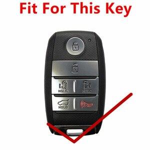 Image 2 - Чехол FLYBETTER из натуральной кожи для смарт ключей, 6 кнопок, для Kia Sedona/Grand/Carnival/Sorento, автостайлинг L498