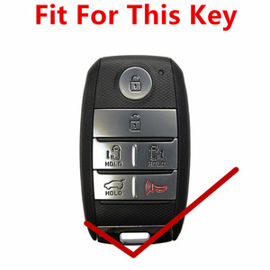 Image 2 - FLYBETTER Genuine Leather 6Button Keyless Entry Smart Key Case Cover For Kia Sedona/Grand/Carnival/Sorento Car Styling  L498