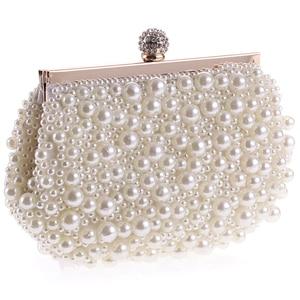 Image 2 - Evening Wedding Clutch Handbag Pearl Bag Dress Dinner Bag Small Purse Bridesmaid Handbag White