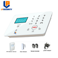 LPSECURITY K9 2G 3G GSM Alarm Systems Security Elderly care Kits Wireless App Remote Control with Touch Keypad Motion Sensor