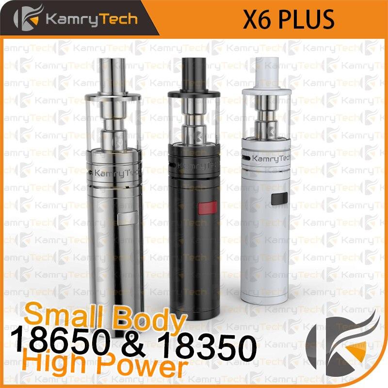 Kamry originale X6 Più kit Vape Penna Vaporizzatore Narghilè kit 18650 18350 Batteria Mod VS iJust S EGO AIO X1091 sigaretta elettronica
