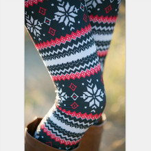 BONJEAN 2017 Autumn Christmas Series Family Matching Outfits Legging No Fleece Stretch Legging Snow Reindeer Leggings Female