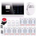 GSM PSTN Wlreless Home Auto Alarm Security System Touch Panel English Russian Spanish French Voice APP IOS Smart Android