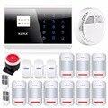 Wlreless GSM PSTN Casa Sistema de Alarme de Segurança Auto Painel de Toque Russo Inglês Espanhol Francês Voz APLICATIVO IOS Inteligente Android