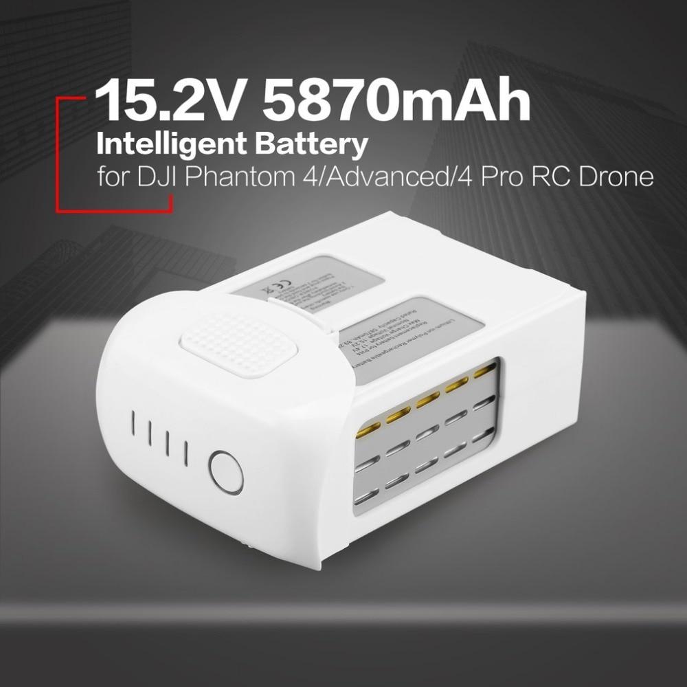 Intelligente drone batteria A Lunga durata di Volo Time15.2V 5870 mah Mostra il tempo rimanente per DJI Phantom 4/Advanced/4Pro con ha condotto la Luce
