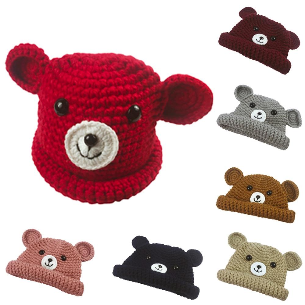 Boys' Baby Clothing 8 Color Cute Baby Kids Girl Boy Cartoon Dog Ear Warm Winter Dual Balls Knitted Wool Blends Cap Hat Beanie Popular Gift 6-36m