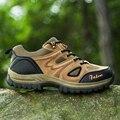 2017 Homens Caminhadas Ao Ar Livre Sapatos de Camurça de Couro Botas de Escalada de Montanha de Trekking Zapatillas Hombre Tênis Botas de Caça Ao Ar Livre