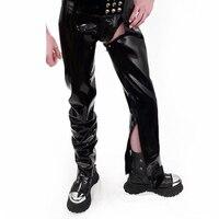 0.6 мм Толщина латекс ручной Брюки для девочек с Рубашки для мальчиков латекс длинные Мотобрюки молния внутри ноги