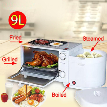 Four-in-one Breakfast Machine Home Multi-function Steamed Egg Cooker Toaster Oven Kitchen Baking Appliances