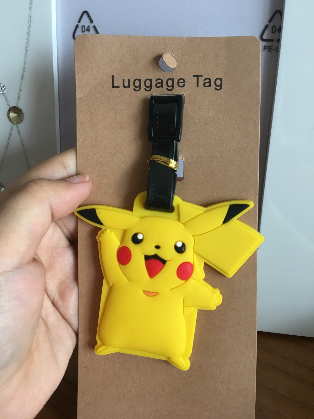 2018 Trolley Pikachu Luggage Tag Silica Gel Suitcase Id Address Holder Baggage Boarding  ...