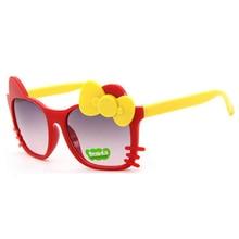 MXDMY детские солнцезащитные очки для девочек в горошек стеклянные детские очки в форме лука Gafas De Sol ninas Детские солнечные очки oculos de sol meninas