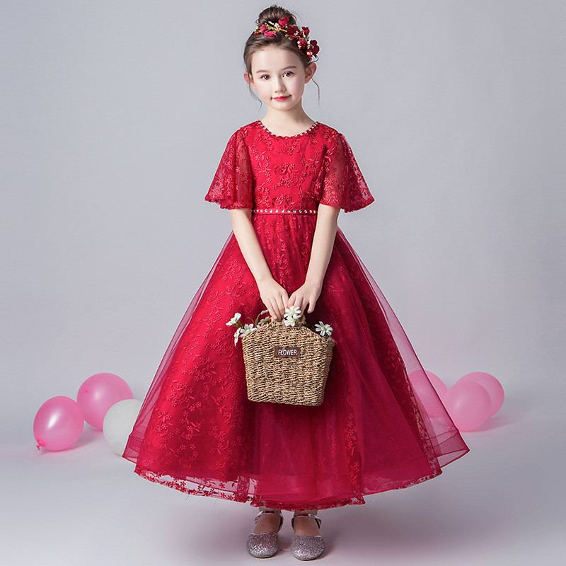 New Children Girls Mesh Flowers Tutu Princess Dress Baby Girl Clothing Vestidos Kids Dresses For Girls Wedding Evening Party F49New Children Girls Mesh Flowers Tutu Princess Dress Baby Girl Clothing Vestidos Kids Dresses For Girls Wedding Evening Party F49