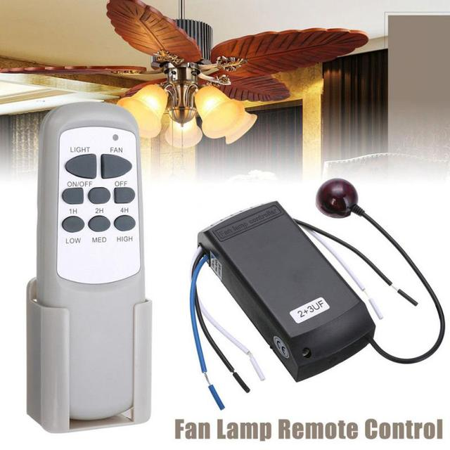 Universal Ceiling Fan Light Lamp Timing Sd Controller Switch Wireless Remote Control Kit Transmitter And Receiver In Controls From Consumer