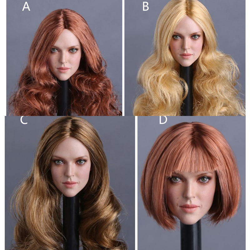 "1//6 Scale Woman Hair Wig 3.0 NEW Multi Colors For 12/"" Female Head Sculpt A"