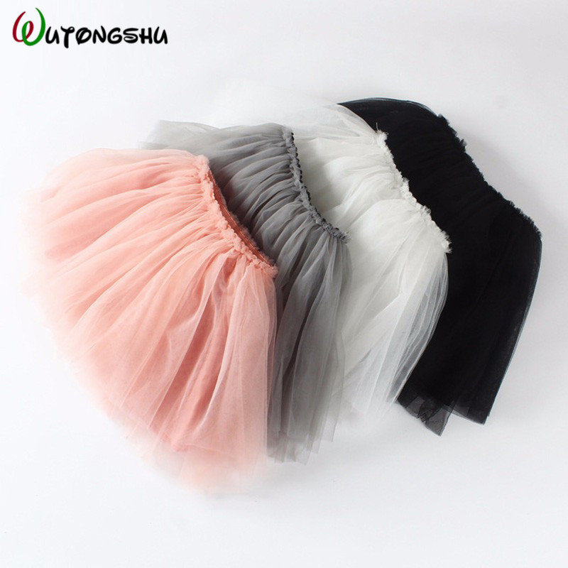 Summer Baby Girl Clothe Black Pink Tutu Skirt Kids Princess Girls Skirt Ball Gown Pettiskirt Birthday Party Kawaii Skirts 3M-24m