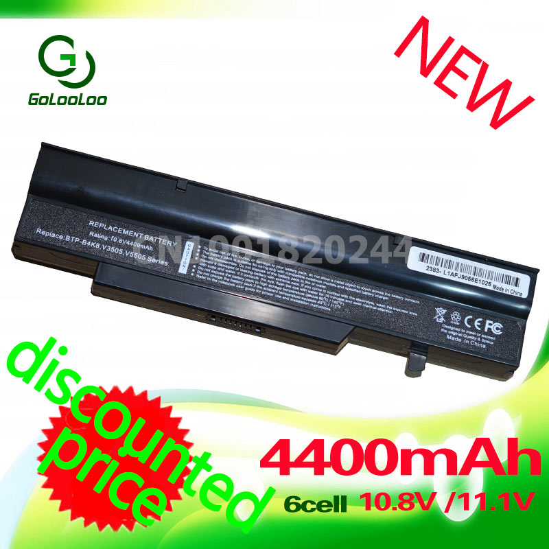 Golooloo 4400mah Laptop Battery For FUJITSU Pro V3505 V3405 V8210 V3525 for Amilo BTP-C0K8 BTP-B7K8 BTP-B8K8 BTP-BAK8 BTP-B4K8 battery for fujitsu siemens amilo xi2428 pi2530 pi2540 pi2550 battery for p55 3s4400 s1s5 g1s2 05 unwill p55im p75im