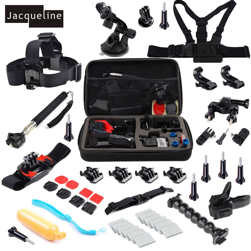 Jacqueline for kit Outdoor Sports Accessories Bundle Kit for GoPro Hero HD 6 5 4 Session Go Pro 3+ 3 for SJCAM SJ4000 for EKEN sj4000 kit accessories sj4000 set accessories sj4000 bundle accessories hot sale