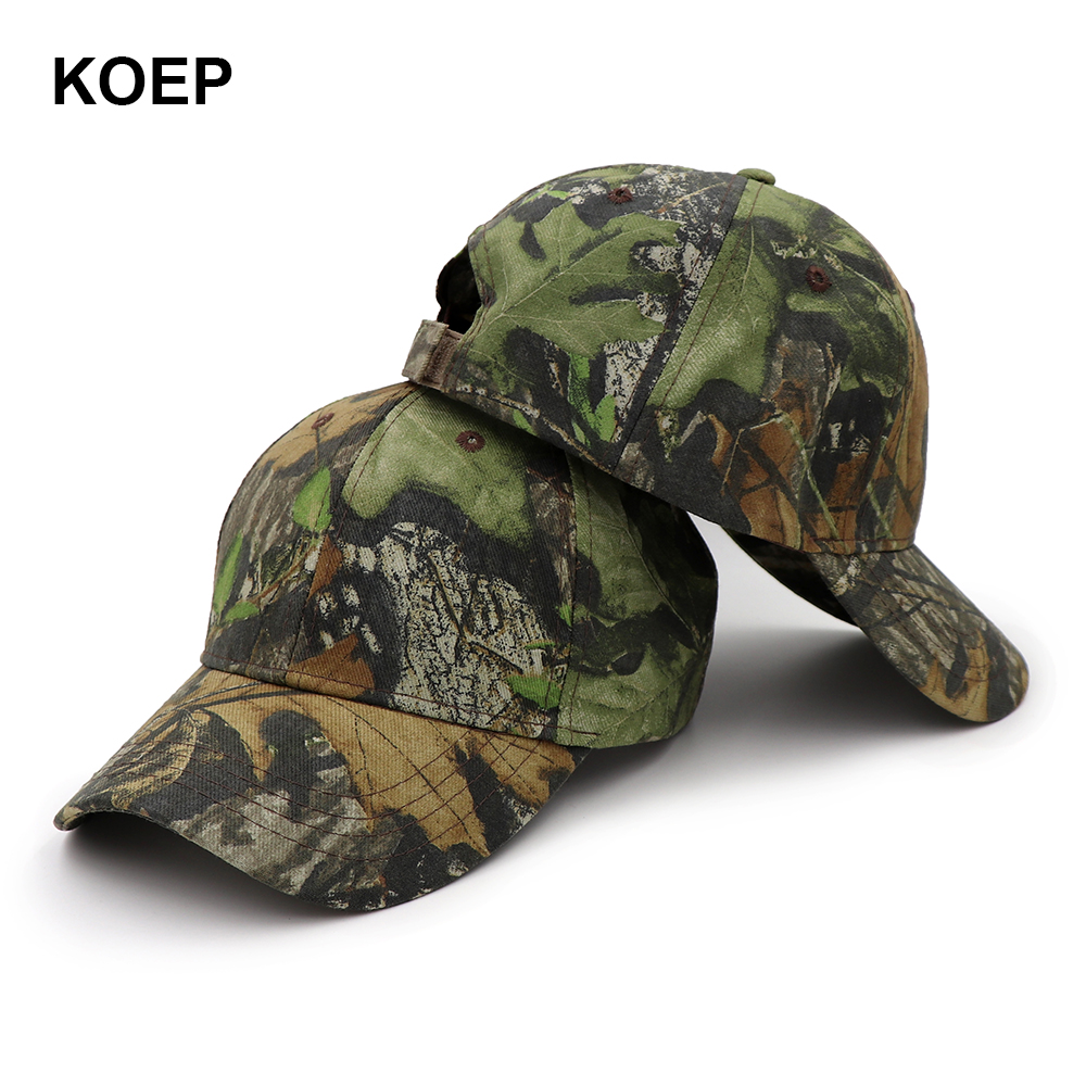 KOEP 2019 New Arrival Camo Baseball Caps Casquette Camouflage Hats Men  Outdoor Fishing Hat Hunting Dad 06982ba98ee1