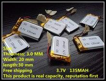302030 135mah 3.7V mp3/4 bluetooth GPS locator batteries battery lithium polymer battery toys