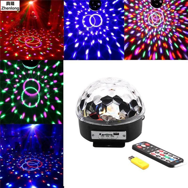 9 Colors MP3 Music DJ Disco Ball AC85-265V Sound Activated Laser Projector RGB Stage Lig ...