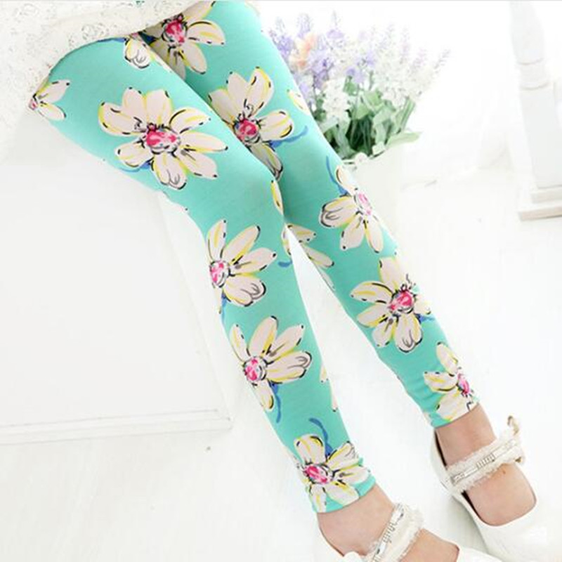 Hot Kids Girl Baby Infant Leggings Flower Floral Printed Loose Pants Trousers
