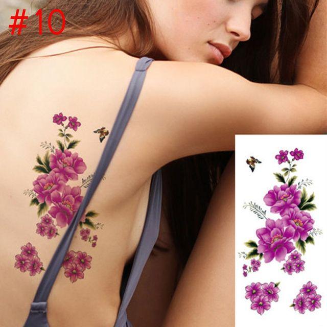 Women's Waterproof Removable Flowers Tattoo